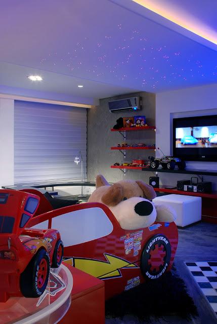 DORMITORIO DE RAYO MCQUEEN DE CARS O MCQUEEN KIDS BEDROOM by dormitorios.blogspot.com