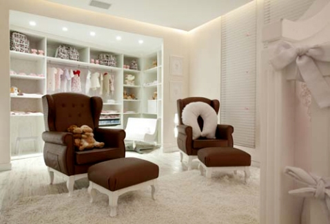 CUARTO PARA GEMELAS o DORMITORIOS PARA MELLIZAS BEBES via www.dormitorios.blogspot.com